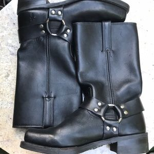 Frye black harness boots